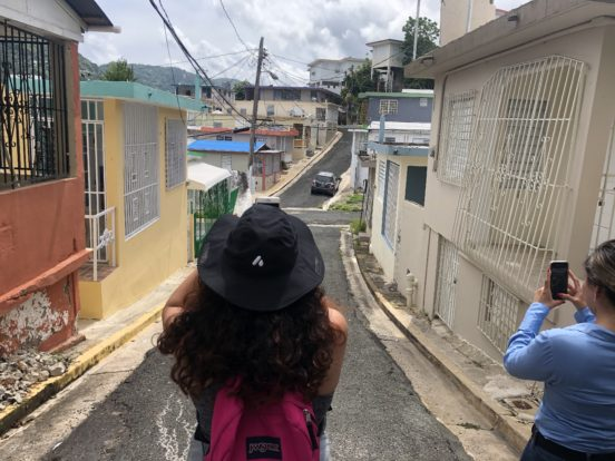 USC Annenberg students take photos in Yabucoa, Puerto Rico on May 24, 2019.